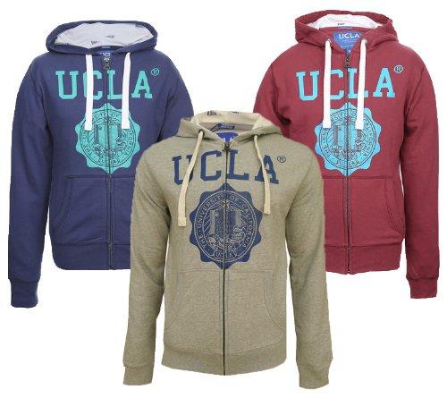 Mens Branded UCLA Kaufman Crest Hoodie Sweat Top (XL - 46