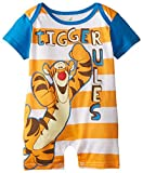 Disney Baby-Boys Newborn Tigger Rules Romper, Orange, 6-9 Months