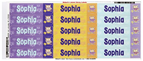 Mabel'S Labels 40845192 Peel And Stick Personalized Labels With The Name Sophia And Owl Icon, 45-Count front-810631