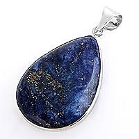 "SODIAL(R) Lapis Lazuli Gemstone Gem Necklace Pendant 1.42x1.02"" HOT"