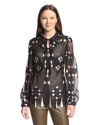 Anna Sui Women's Diamond Lace Top