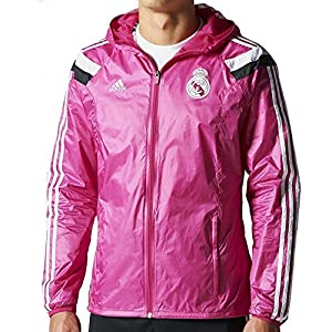 adidas Men's Real Madrid Anthem Jacket 14/15 Pink (M)