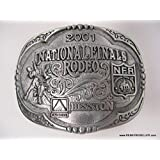 SCARCE 2001 Hesston Large Belt Buckle -- Bull Riding -- NEW in the original packaging -- NFR -- National Finals Rodeo