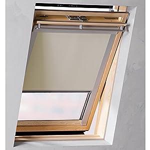 Dachfensterrollo passend für Velux Dachfenster GGL S06(Breite 97,3 cm Länge 94 cm) Farbe beige Verdunklungsrollo    Bewertungen