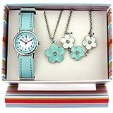 Montre, Pendentif et Bracelet à Fleurs de The Olivia Collection.Set Cadeau KS005