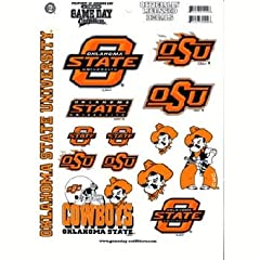 Buy NCAA Oklahoma State Cowboys Full Page Vinyl Sticker by Game Day Outfitters