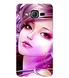 Evaluze girl Printed Back Cover for SAMSUNG GALAXY ON5 PRO 2016