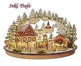 LED Schwibbogen Oval inkl. Trafo 'Weihnachtsmarkt'...
