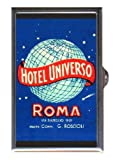 Rome Italy Hotel Universo NICE Guitar Pick or Pill Box USA Made