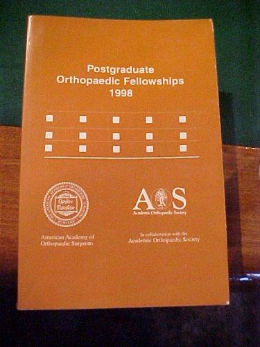Postgraduate Orthopaedic Fellowships 1998