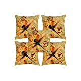 Rajrang Brown, Red Cotton Digital Printed Cushion Cover Set Of 5 Pcs #Ccs05829