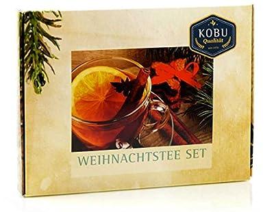 KOBU-TEE + »Weihnachtstee« Geschenk-Set mit vier Sorten von KOBU-TEE bei Gewürze Shop