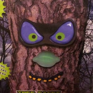 PMG Evil Eyes Tree Faces Spooky Light Up LED Halloween Tree Face Purple Eye