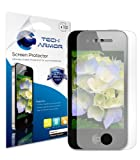 Tech Armor Anti-Glare & Anti-Fingerprint (Matte) Screen Protector with Lifetime Replacement Warranty for Apple iPhone 4 and 4S [3-Pack]