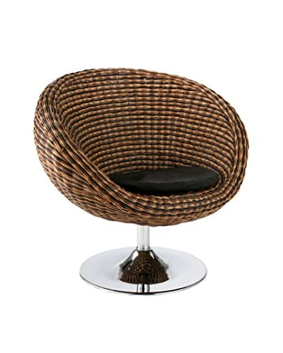 Eurostyle Oliana Swivel Chair, Taupe