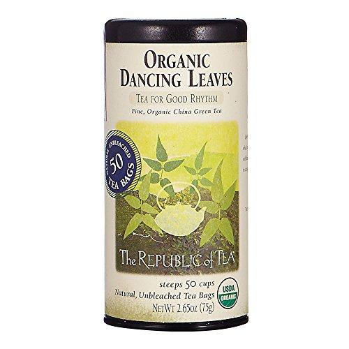 The Republic Of Tea Organic Usda Dancing Leaves Green Tea, 50 Tea Bags