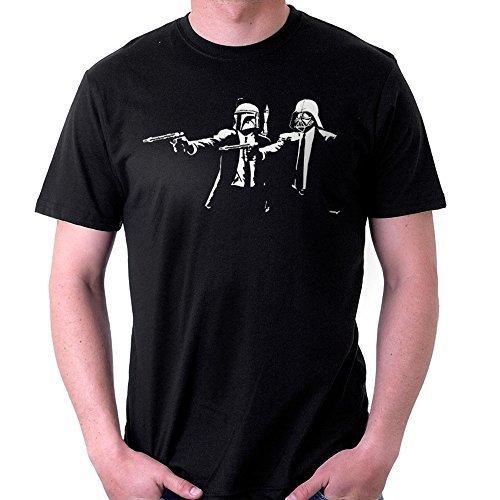 Banksy Star Wars Pulp Fiction, Men's T-Shirt, Black, Large