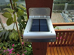 Energy Saving Outdoor Solar Light - 16 Bright Leds - Built in Motion Sensor - All Year-round Reliability - (No Batteries) (No Wires) Brighten up Your Patio, Garden, Yard, Shed, Driveway, Gate, Mailbox, Fence