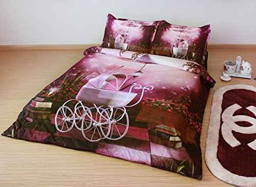 JF-073 splendida notte con stelle di colore scuro 3D scenario set biancheria da letto king size per adulto twin single cover letto queen biancheria quilt