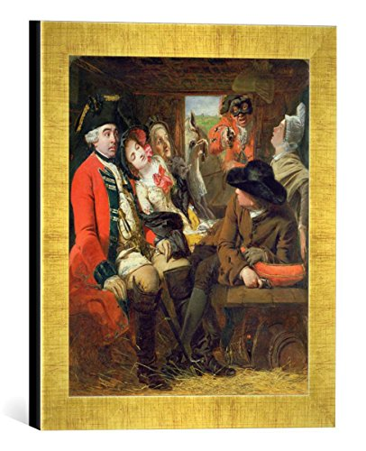 gerahmtes-bild-von-william-powell-frith-a-stagecoach-adventure-bagshot-heath-1848-kunstdruck-im-hoch