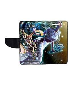 KolorEdge Printed Flip Cover For Alcatel One Touch Flash Multicolor - (1479-55KeMLogo11203AlcatelFlash)