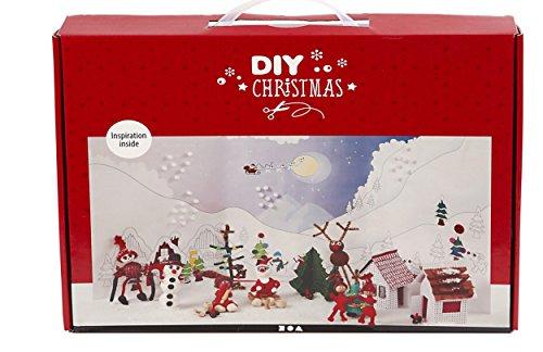 Jumbo bastelkoffer weihnachtslandschaft bastelset mit silk - Schlitten basteln pappe ...