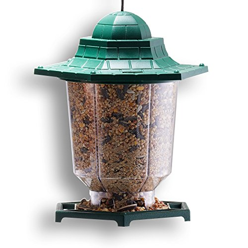 GrayBunny GB-6843 Gazebo Bird Feeder, Green, Premium Hard Plastic With Adjustable Hanging Rope (Opus 3 Mind Fruit compare prices)