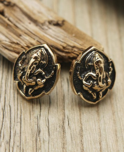 Bronze Ganesha Stud Earrings