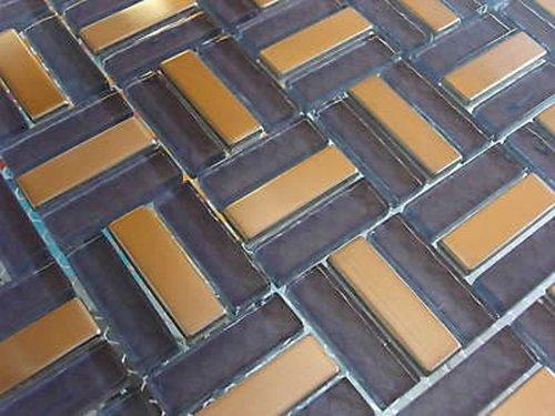 FLIESENTOPSHOP Glasmosaik Edelstahlmosaik Fliesen Mosaik Metallmosaik7