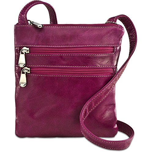 david-king-co-florentine-3-zip-cross-body-bag-3734-red-fuchsia-one-size