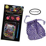 Loom Bands Pack (no loom) Complete Rainbow of 300+ Color Latex-Free Bands Plus BONUS Mesh Bag Bundle