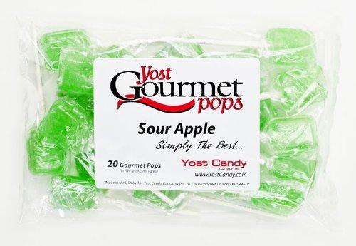 Yost Gourmet Pops, 20 Count Bag - Sour Apple