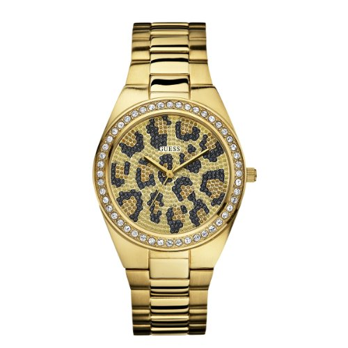 Guess Leopard Print Gold Ladies Watch - W10606L1