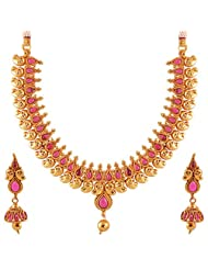 Jewel Mart Antique Necklace Red For Women JMNS001
