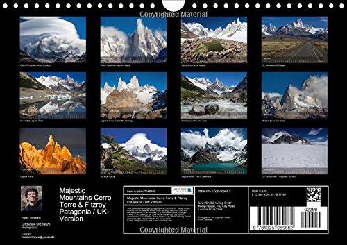 Majestic Mountains Cerro Torre & Fitzroy Patagonia / UK-Version (Wall Calendar 2016 DIN A4 Landscape): Unique pictures from Cerro Torre and Cerro Fitzroy (Monthly calendar, 14 pages) (Calvendo Nature)