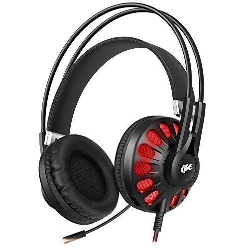 Cuffie da Gioco 1byone Audio Virtual Surround Sound 7.1 USB con Microfono e Controllo In-Linea per PC, Cuffie per Gaming, Nero