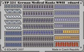 Eduard Photoetch (Zoom) 1:35 - German Medical Ranks WWII - EDPTP524