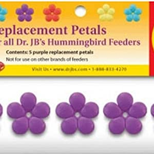 Pack of 5 Purple Replacement Blossoms for Hummingbird Feeder