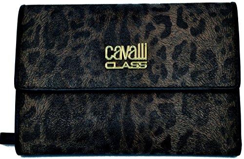 Portafoglio Roberto Cavalli Class Women Wallet ecopelle Nero Donna Portafogli
