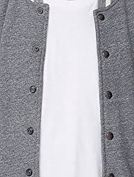American Apparel Men Heavy Terry Club Jacket Size XXS Zinc