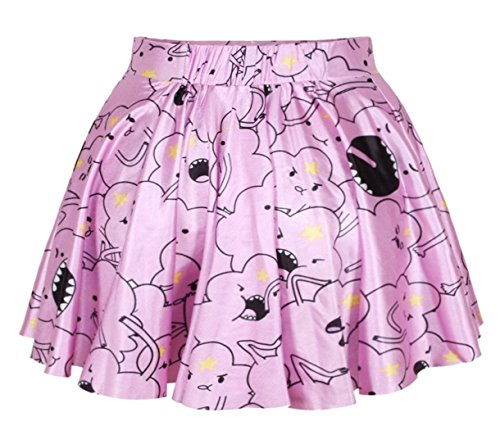 King Ma Sexy Retro Vintage Digital Print Skater Skirt (Lumpy Space Princess) (Lumpy Space Princess Dress compare prices)