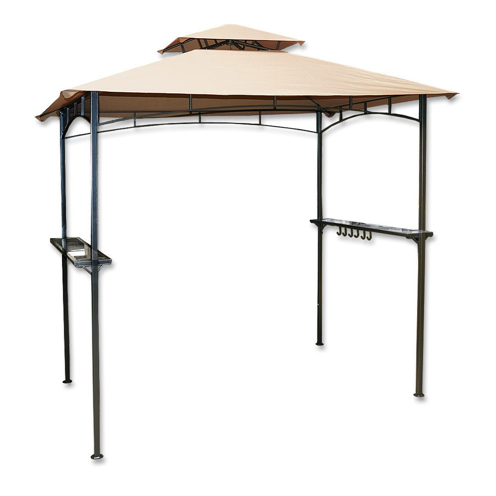 Grill-Pavillon mit Rauchabzug 240 x 150 cm Metallgestell Grillen Partyzelt NEU online kaufen