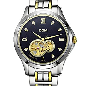 DOM Men's Gold Automatic Mechanical Wrist Watches