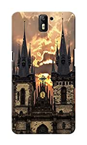 KnapCase Prague Designer 3D Printed Case Cover For OnePlus One