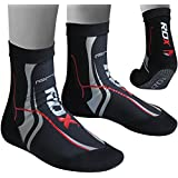 Authentic RDX MMA Grip Training Fight Socks Boxing Foot Ankle Shin Boots Shoes Guards