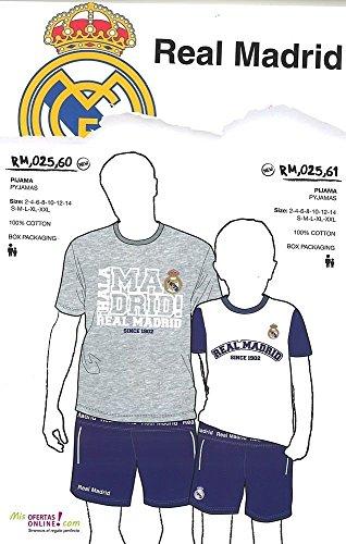 Real-Madrid-Pijama-Real-Madrid-Adulto-MC-Blanco-M