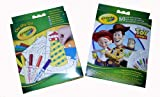 Crayola on the go travel mosaic kit & Toy story colouring book 2 pack