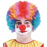Super Curly Multi Colour Clown Wig For Fancy Dress Parties / Halloween