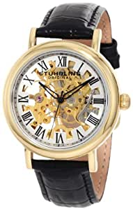 Stuhrling Original Women's 294A.113531 Lifestyles Macbeth Mechanical Skeleton Goldtone Watch
