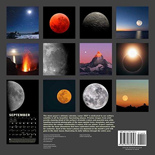 2017 moon calendar card 5 pack lunar phases eclipses for Lunar fishing calendar 2017